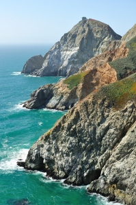 Famous for beautiful views, much of California's Highway 1 runs along cliffs on the Pacific Coast, but mudslides from the steep terrain above Highway 1 often close sections of the road for months at a time, including here at Devil's Slide.