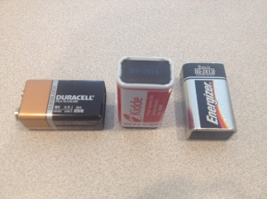 Each of these batteries has a printed expiration date, but they are all in different locations on the battery.